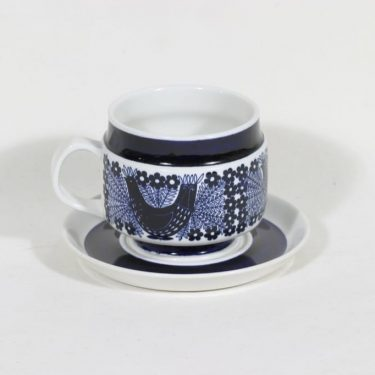 Arabia Sinilintu muki, 50 cl, suunnittelija Raija Uosikkinen, 50 cl, käsinmaalattu
