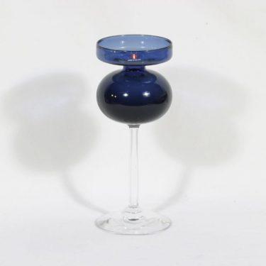 Riihimäen lasi 2660 kynttilänjalka, sininen, suunnittelija ,