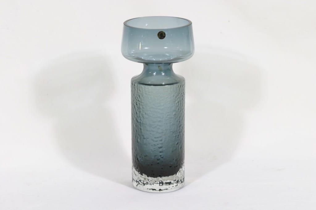 Riihimäen lasi Safari maljakko, siniharmaa, suunnittelija Tamara Aladin,