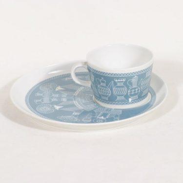 Arabia BA/BT kuppi ja lautanen, tilattu koriste, suunnittelija , tilattu koriste, serikuva