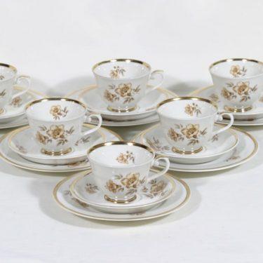 Arabia Myrna kahvikupit, 6 kpl, suunnittelija Olga Osol, siirtokuva