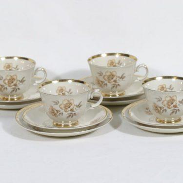 Arabia Myrna kahvikupit, 4 kpl, suunnittelija Olga Osol, siirtokuva