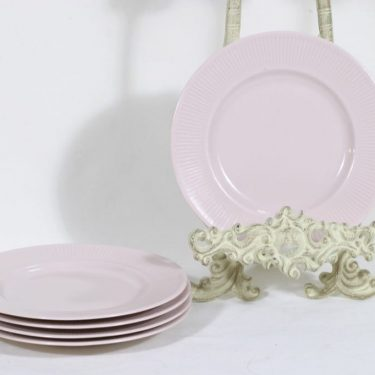 Arabia Sointu leivoslautaset, rosa, 5 kpl, suunnittelija Kaj Franck,