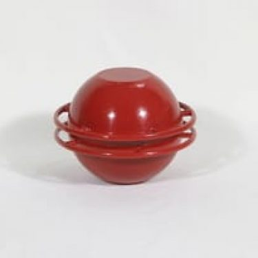 Rosenlew Saturnus emalipata, punainen, suunnittelija Timo Sarpaneva, pieni