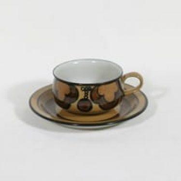 Arabia Kalevala teekuppi, signeerattu, suunnittelija Peter Winquist, signeerattu, serikuva