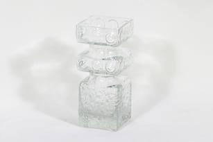 Riihimäen lasi Kehrä maljakko, kirkas, suunnittelija Tamara Aladin,