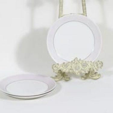 Arabia Kesä lautaset, pieni, 3 kpl, suunnittelija Esteri Tomula, pieni, raitakoriste
