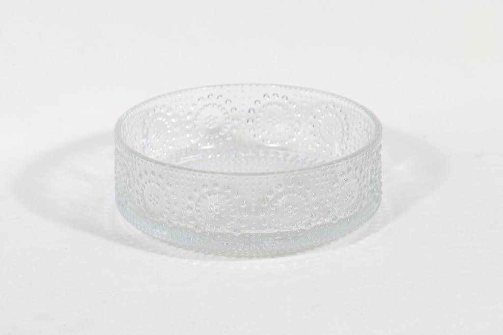 Riihimäen lasi Grapponia kulho, kirkas, suunnittelija Nanny Still,