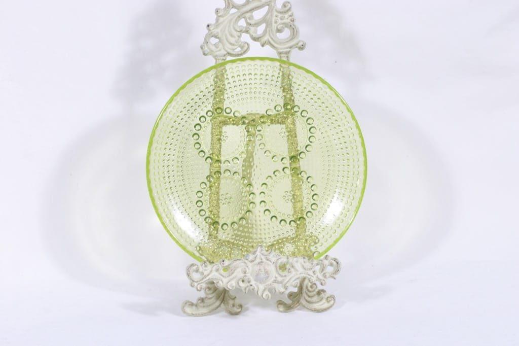 Riihimäen lasi Grapponia lautanen, keltainen, suunnittelija Nanny Still,