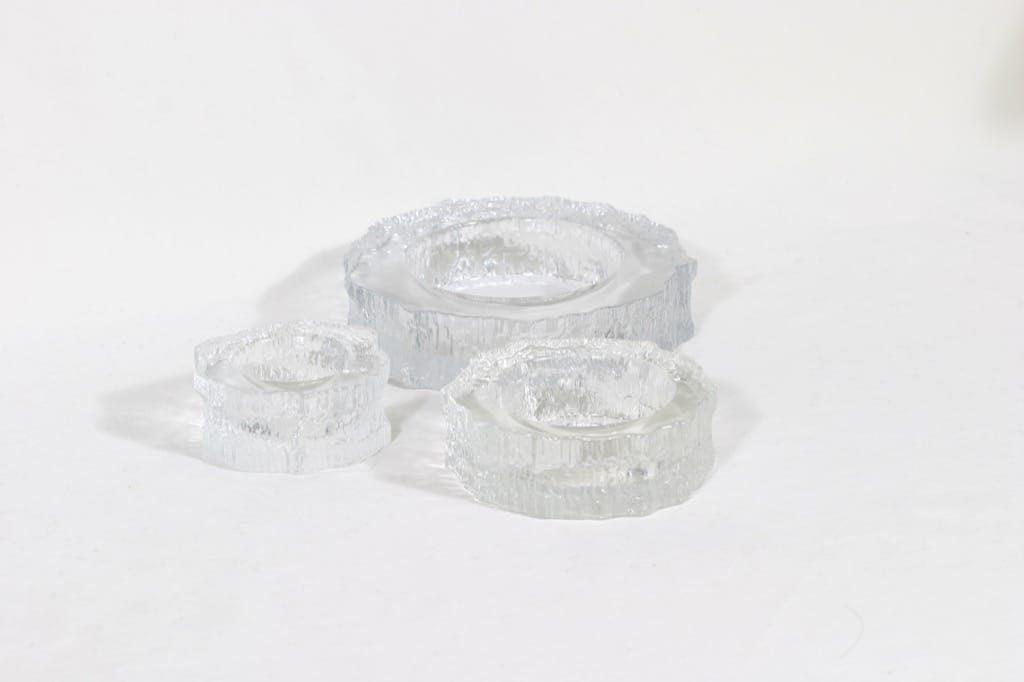 Iittala Aslak tuhka-astiat, eri kokoja, 3 kpl, suunnittelija Tapio Wirkkala, eri kokoja