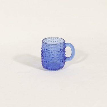 Riihimäen lasi Grapponia kuppi, sininen, suunnittelija Nanny Still,