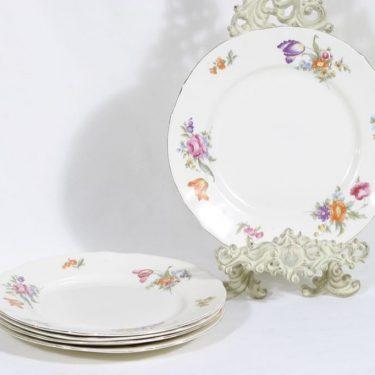 Arabia Kesäkukka lautaset, matala, 5 kpl, suunnittelija , matala, siirtokuva