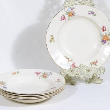 Arabia Kesäkukka lautaset, syvä, 6 kpl, suunnittelija , syvä, siirtokuva