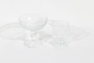 Nuutajärvi Apila sugar bowl and creamer, clear