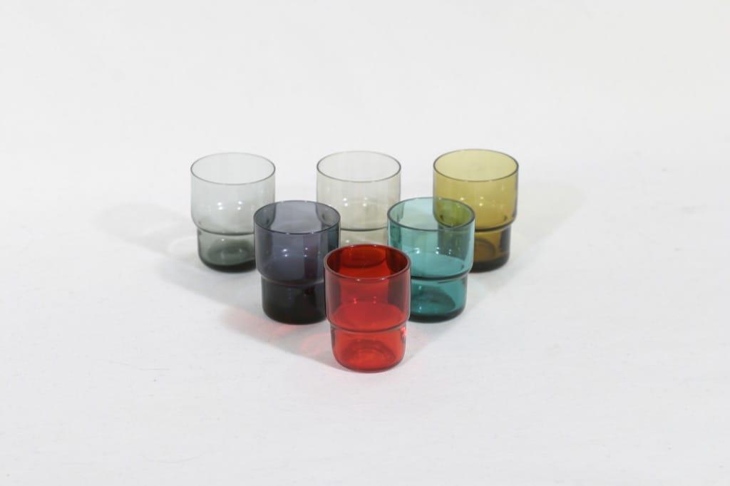 Nuutajärvi Pinottava lasi lasit, 3 cl, 6 kpl, suunnittelija Saara Hopea, 3 cl, pieni