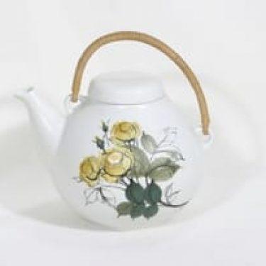 Arabia Kukka teekannu, käsinmaalattu, suunnittelija , käsinmaalattu, signeerattu