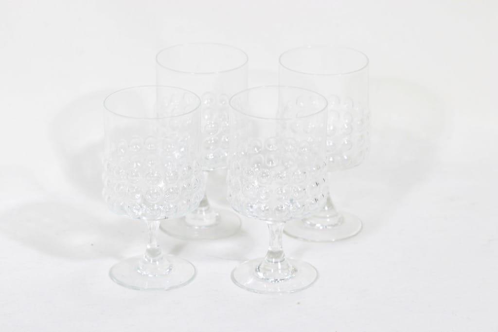 Riihimäen lasi Grappo lasit, kirkas, 4 kpl, suunnittelija Nanny Still,