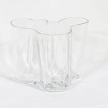 Iittala Savoy maljakko, signeerattu, suunnittelija Alvar Aalto, signeerattu