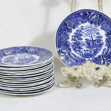 Arabia Maisema cover plates, 17 pcs, copper ornament