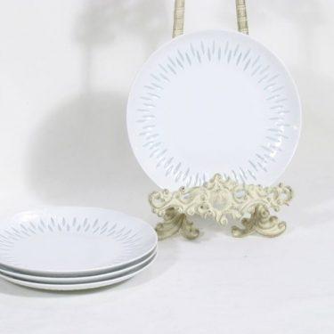 Arabia riisiposliini lautaset, valkoinen, 4 kpl, suunnittelija ,