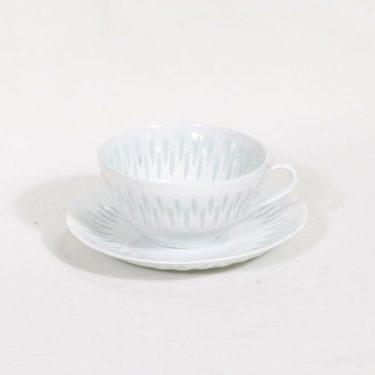 Arabia riisiposliini teekuppi, valkoinen, suunnittelija ,