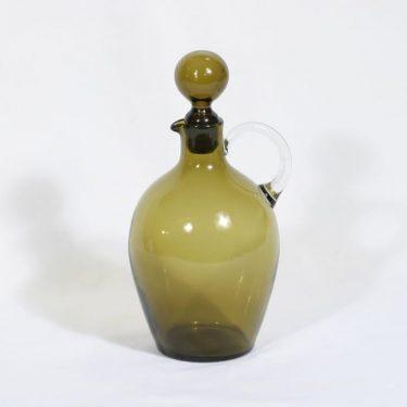 Nuutajärvi 2501 karahvi, oliivinvihreä, suunnittelija Saara Hopea,