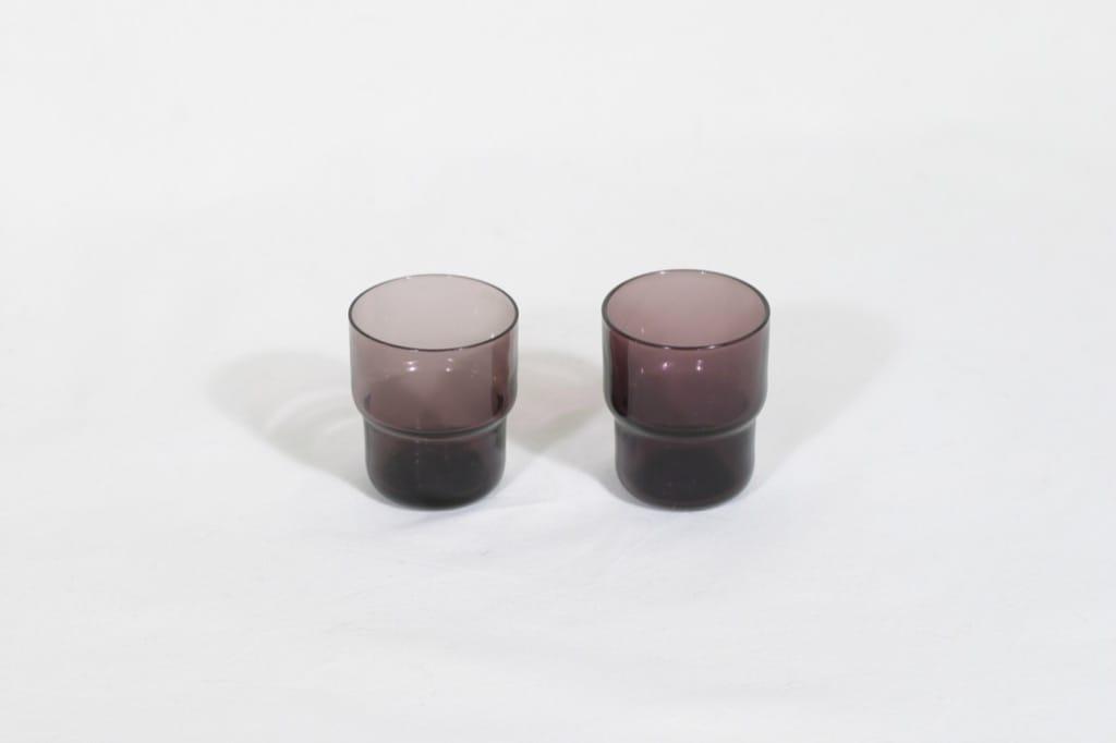 Nuutajärvi Pinottava lasi lasit, 3 cl, 2 kpl, suunnittelija Saara Hopea, 3 cl, pieni