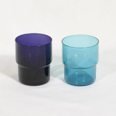 Nuutajärvi Pinottava lasi lasit, 25 cl, 2 kpl, suunnittelija Saara Hopea, 25 cl, suuri