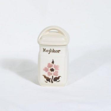 Arabia EB1 maustepurkki, kukkakuvio, suunnittelija , kukkakuvio, pieni, puhalluskoriste