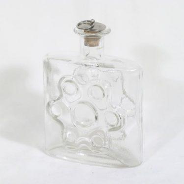 Riihimäen lasi Paukkuraura koristepullo, kirkas, suunnittelija Erkkitapio Siiroinen,