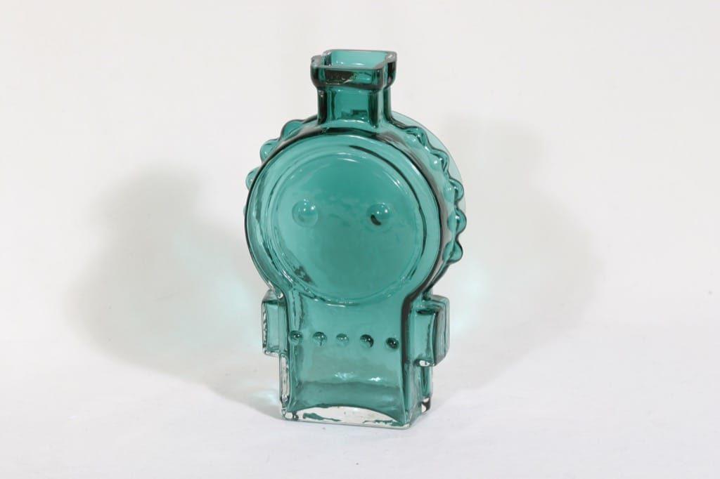 Riihimäen lasi Ahkeraliisa maljakko, turkoosi, suunnittelija Helena Tynell,