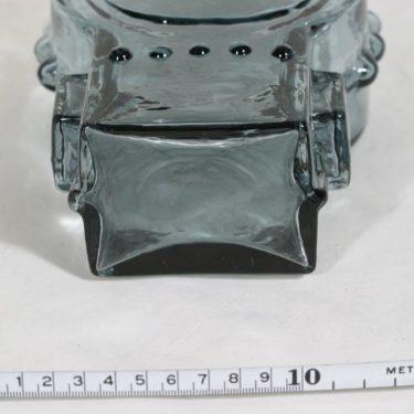 Riihimäen lasi Ahkeraliisa maljakko, siniharmaa, suunnittelija Helena Tynell,  kuva 4