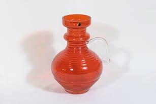 Riihimäen lasi Kleopatra kaadin, punainen, suunnittelija Tamara Aladin,