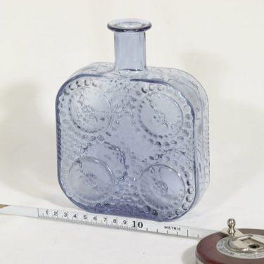 Riihimäen lasi Grapponia koristepullo, siniharmaa, suunnittelija Nanny Still,  kuva 2
