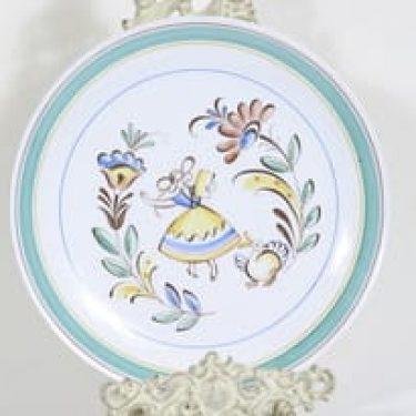 Arabia Talonpoika lautanen, käsinmaalattu, suunnittelija Svea Grankund, käsinmaalattu