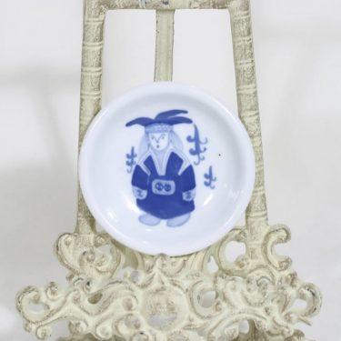 Arabia koristelautanen, käsinmaalattu, suunnittelija , käsinmaalattu, pieni, signeerattu