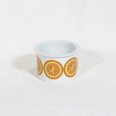 Arabia Pomona purnukka, appelsiini, suunnittelija Raija Uosikkinen, appelsiini
