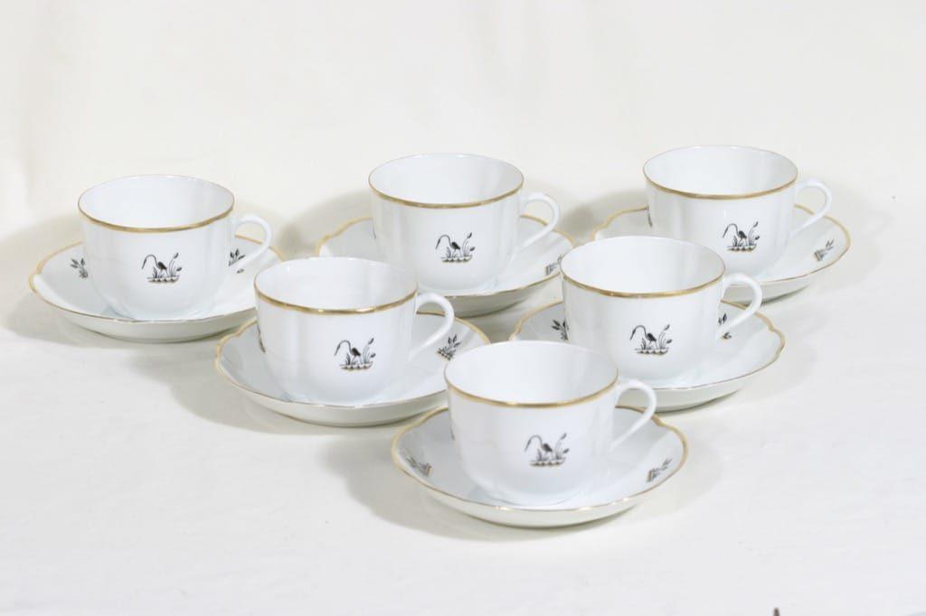 Arabia Haikara teekupit, 6 kpl, suunnittelija , leimakoriste, art deco