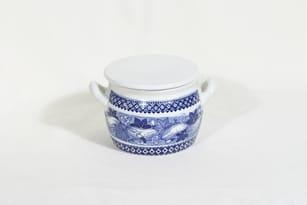 Arabia Kurkku ruukku, sininen, suunnittelija , kuparipainokoriste