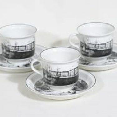 Arabia Helsinki kahvikupit, 3 kpl, suunnittelija ,