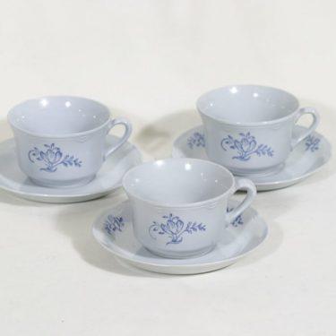 Arabia RL teekupit, kukkakuvio, 3 kpl, suunnittelija , kukkakuvio
