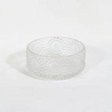 Riihimäen lasi Grapponia kulho, kirkas, suunnittelija Nanny Still, pieni