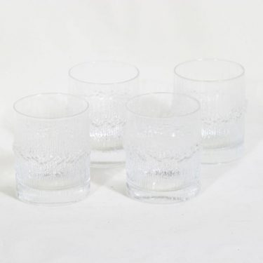 Iittala Niva lasit, kirkas, 4 kpl, suunnittelija Tapio Wirkkala,
