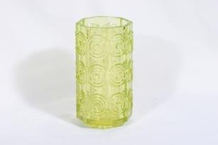 Riihimäen lasi Rengas maljakko, keltainen, suunnittelija Tamara Aladin,