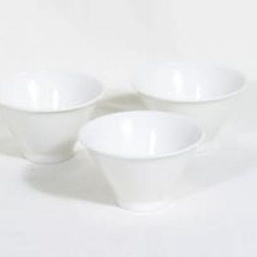 Arabia Harlekin annoskulhot, valkoinen, 3 kpl, suunnittelija Inkeri Leivo,