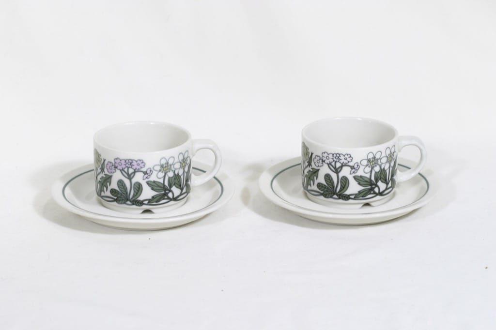 Arabia Flora II kahvikupit, 2 kpl, suunnittelija , serikuva