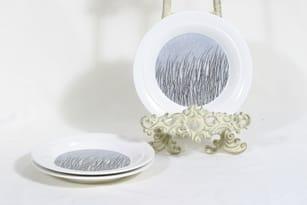 Arabia Merituuli plates, 3 pcs, designer Heljä Liukko-Sundström, small, silk screening