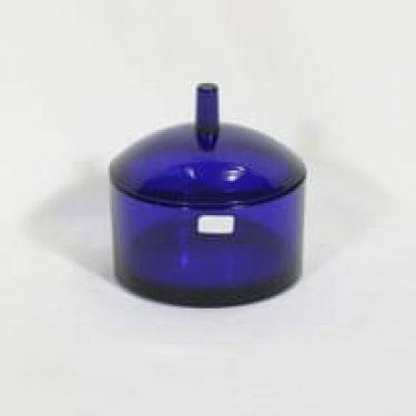 Nuutajärvi Pandora rasia, sininen, suunnittelija Markku Salo,