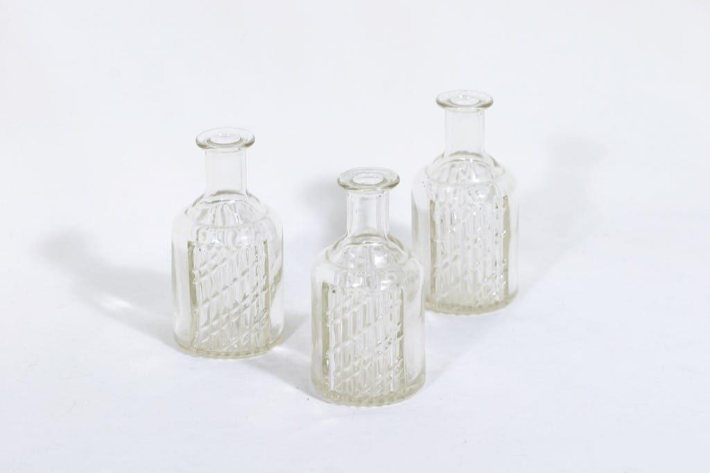 Riihimäen lasi Flindari koristepullot, 12 cl, 3 kpl, suunnittelija Nanny Still, 12 cl, pieni