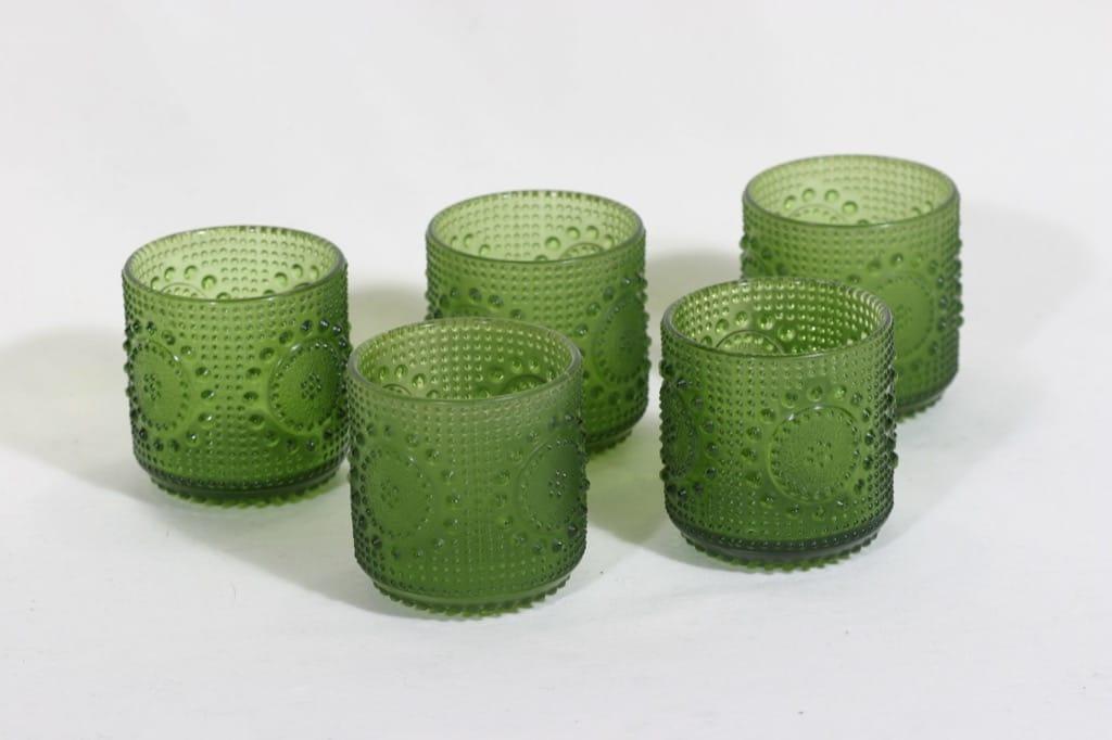 Riihimäen lasi Grapponia lasit, 18 cl, 5 kpl, suunnittelija Nanny Still, 18 cl, mattapinta